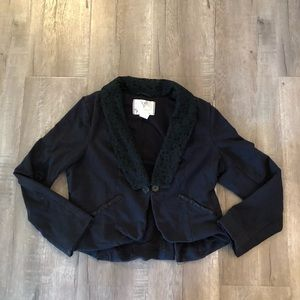 Free People jacket blazer lace collar black large